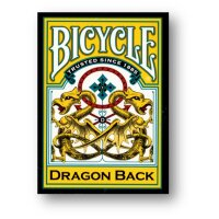 Bicycle Dragon Yellow by Gamblers Warehouse
