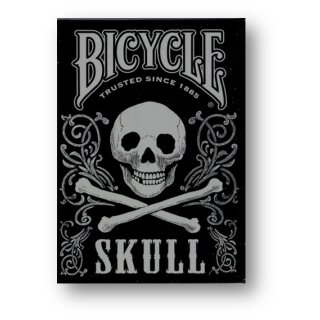 Bicycle Skull Metallic (Silver)