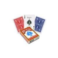 2 Decks (1 x rot / 1 x blau) Standard Bicycle 808 Rider Back Spielkarten Poker Karten