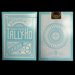 Tally Ho Reverse Circle back (Mint Blue) Limited Ed. by Aloy Studios