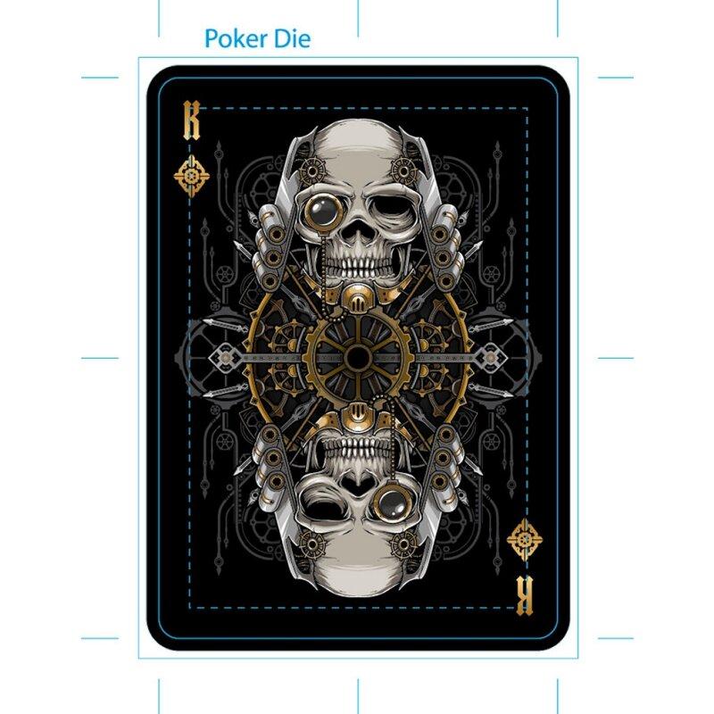White by Gambler/'s Warehouse Poker Spielkarten Bicycle Steampunk Deck