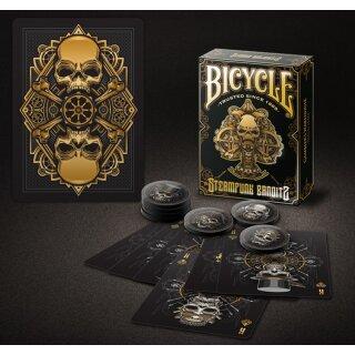 Bicycle Steampunk Deck (Black) by Gamblers Warehouse