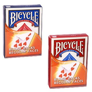 Bicycle Blank Backs - Regular Faces