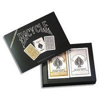 Bicycle Prestige Set 2 Decks Gold & Silber