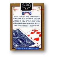 Bicycle - Poker Deck Standard - Rider back Blau