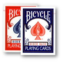 2 Decks (1 x rot / 1 x blau ) Bicycle 807 Rider Back...