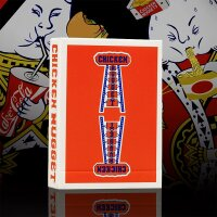 Chicken Nugget Playing Cards (RED) Limited Edition Deck by Hanson Chien