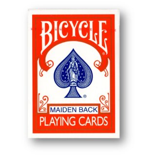 Bicycle Maiden Back (Red) Playing Cards