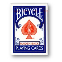 Bicycle Maiden Back (Blue) Playing Cards