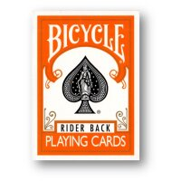 Bicycle Orange Rider Back Poker Spielkarten Deck