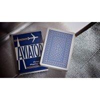 AVIATOR Deck Poker Size BLAU
