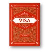 VISA Playing Cards RED