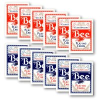 12 x Bee Casino Poker Normaler Index (6 x rot / 6 x blau)