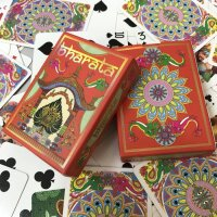 Bharata Playing Cards Rare Indian Deck Holographic Gold Gilded