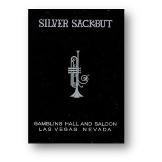 Silver Sackbut (Black) Playing Cards by Magic Square