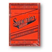 Superior Skull & Bones V2 (Red/Silver) Playing Cards...