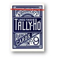 12 x Tally-Ho FAN Back Poker Karten blau/rot