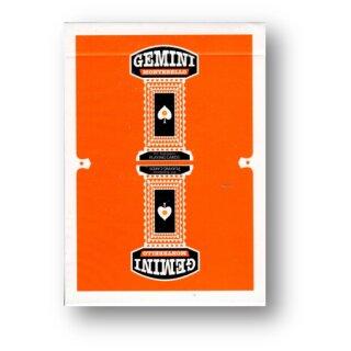 Gemini Casino Playing Cards - Orange