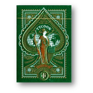 Tycoon (Green) Playing Cards Limited Edition by Theory11