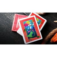 Mermaid Bicycle Playing Cards (Red) by US Playing Card Co