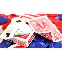 Limited Edition Gilded Bicycle Faro (Red) Playing Cards