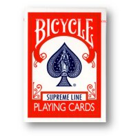 Bicycle Supreme Line Rider Back Poker Karten RED