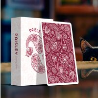 Paisley Playing Cards - Ruby Red Edition