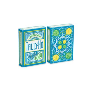 Tally Ho Fan Back Summer Playing Cards