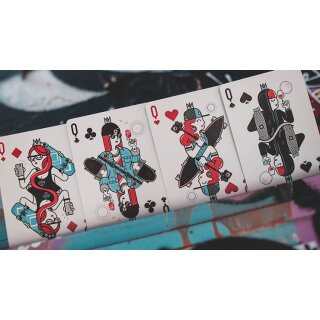 Skateboard V2 (Marked) Playing Cards by Riffle Shuffle