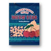 Meow Star Vending Machine (Cherry) Playing Cards by Bocopo