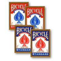 4 Decks (2 x rot / 2 x blau) Standard Bicycle 808 Rider...