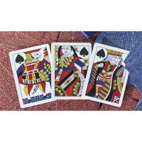 Limited Late 19th Century Square Faro (Red) Playing Cards
