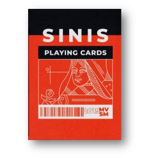 Sinis (Raspberry and Black) Playing Cards by Marc Ventosa