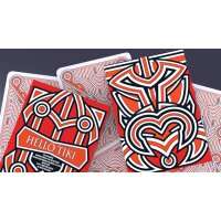 Hello Tiki (Red) Playing Cards
