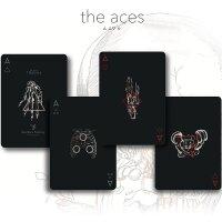 Trauma Black Playing Cards