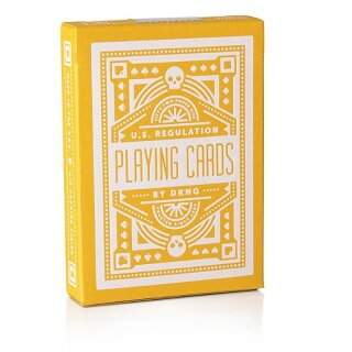 DKNG Yellow Wheel Playing Cards by Art of Play