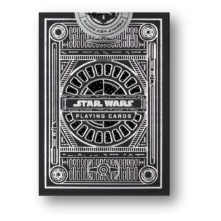 Star Wars Dark Side Silver Edition Playing Cards (Graphite Grey) by theory11