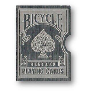 Card Clip Bicycle Karten Hülle Kartenschutz SILBER GRAVIERT