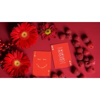 Keep Smiling Red V2 Playing Cards by Bocopo