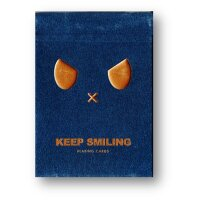 Keep Smiling Blue V2 Playing Cards by Bocopo