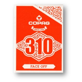 Copag 310 Playing Cards - Slim Line - Face Off - Red