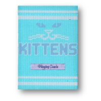 Blue Kittens Playing Cards