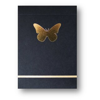 Limited Edition Butterfly Playing Cards (Black and Gold) by Ondrej Psenicka