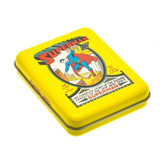 DC Super Heroes - Superman no. 1 Playing Cards - Tattoo Tin Boxes Display