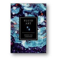 Fluid Art Blue (Cardistry Edition) Playing Cards