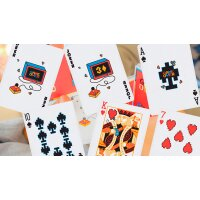Game Over Red Playing Cards by Gemini