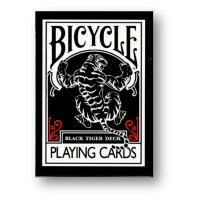 Black Tiger RED Deck - Bicycle