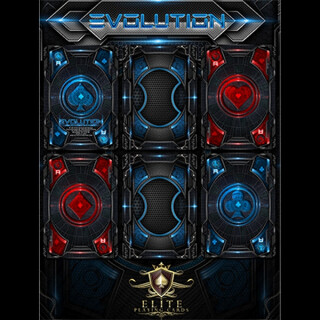 Evolution Deck (Blue) Bicycle by ELITE Playing Cards